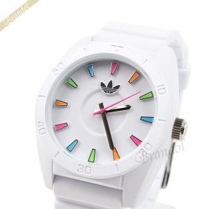 アディダス adidas メンズ・レディース 腕時計 アディダスオリジナルス SANTIAGO サンティアゴ マルチカラーインデックス 42mm ホワイト ADH2915 [在庫品]|brandol
