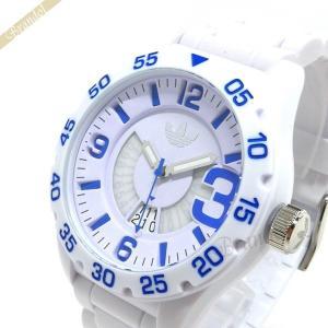 アディダス adidas メンズ腕時計 アディダスオリジナルス NEWBURGH ニューバーグ 48mm ホワイト×ブルー ADH3012 [在庫品]|brandol