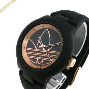 アディダス adidas メンズ・レディース 腕時計 アディダスオリジナルス ABERDEEN アバディーン 40mm ブラック×ローズゴールド ADH3086 [在庫品] brandol