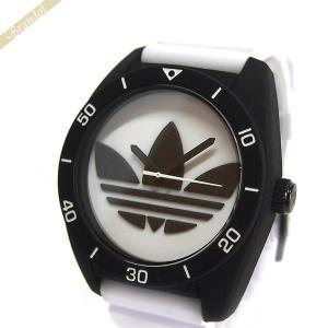 アディダス adidas メンズ腕時計 アディダスオリジナルス サンティアゴ 42mm ホワイト×ブラック ADH3133 [在庫品]|brandol
