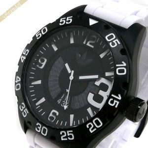 アディダス adidas メンズ・レディース メンズ腕時計 アディダスオリジナルス NEWBURGH ニューバーグ 48mm ブラック×ホワイト ADH3136 [在庫品]|brandol