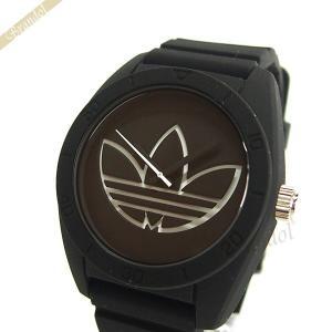 アディダス adidas メンズ腕時計 アディダスオリジナルス サンティアゴ 42mm ブラック×ホワイト ADH3189 [在庫品]|brandol