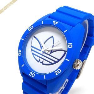 アディダス adidas アディダス メンズ・レディース 腕時計 アディダスオリジナルス サンティアゴ 42mm ホワイト×ブルー ADH3196 [在庫品]|brandol