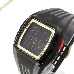 アディダス adidas メンズ・レディース腕時計 パフォーマンス デュラモ デジタル ブラック×ゴールド ADP6136 [在庫品]|brandol