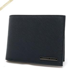 アルマーニジーンズ ARMANI JEANS メンズ 二つ折り財布 ネイビー 938538 CC991 00335 BLU [在庫品]|brandol