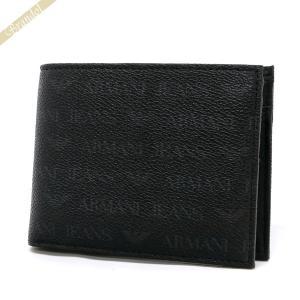 アルマーニジーンズ ARMANI JEANS メンズ 二つ折り財布 ロゴ ブラック 938538 CC996 00020 NERO [在庫品]|brandol