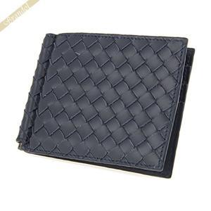 ボッテガヴェネタ BOTTEGA VENETA メンズ 二つ折り財布 レザー 札入れ ネイビー 123180 V4651 4013|brandol