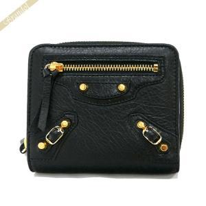 バレンシアガ Balenciaga 財布 レディース 二つ折り財布 クラシック ウォレット レザー ブラック 310699 D940G 1000 [在庫品]|brandol