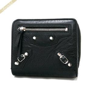 バレンシアガ Balenciaga 財布 レディース 二つ折り財布 クラシック ウォレット レザー ブラック 310699 D940N 1000 [在庫品]|brandol
