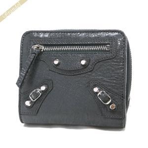 バレンシアガ Balenciaga 財布 レディース 二つ折り財布 クラシック ウォレット レザー グレー 310699 D940N 1110 [在庫品]|brandol