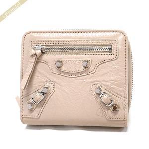 バレンシアガ Balenciaga 財布 レディース 二つ折り財布 クラシック ウォレット レザー ベージュ 310699 D940N 2730 [在庫品]|brandol