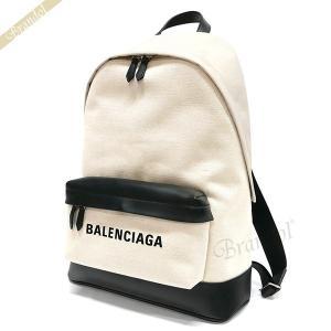 バレンシアガ Balenciaga メンズ・レディース リュックサック ロゴ バックパック ナチュラル×ブラック 392007 AQ3AN 9260 【2019年春夏新作】 [在庫品]|brandol