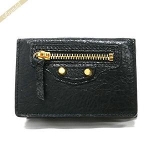 バレンシアガ Balenciaga 財布 レディース 三つ折り財布 クラシック ミニ ウォレット レザー ブラック 477455 D940G 1000 [在庫品]|brandol