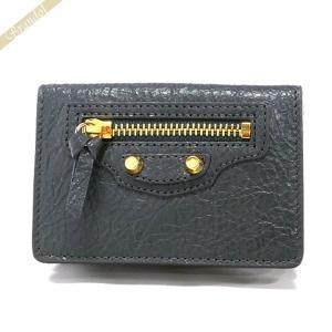 バレンシアガ Balenciaga 財布 レディース 三つ折り財布 クラシック ミニ ウォレット レザー グレー 477455 D940G 1110 [在庫品]|brandol