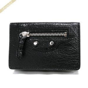 バレンシアガ Balenciaga 財布 レディース 三つ折り財布 クラシック ミニ ウォレット レザー ブラック 477455 D940N 1000 [在庫品]|brandol