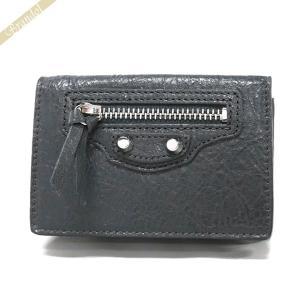 バレンシアガ Balenciaga 財布 レディース 三つ折り財布 クラシック ミニ ウォレット レザー グレー 477455 D940N 1110 [在庫品]|brandol