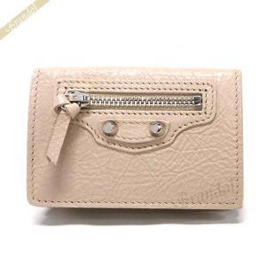 バレンシアガ Balenciaga 財布 レディース 三つ折り財布 クラシック ミニ ウォレット レザー ベージュ 477455 D940N 2730 [在庫品]|brandol