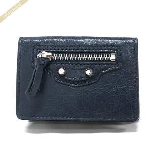 バレンシアガ Balenciaga 財布 レディース 三つ折り財布 クラシック ミニ ウォレット レザー ネイビー 477455 D940N 4030 [在庫品]|brandol
