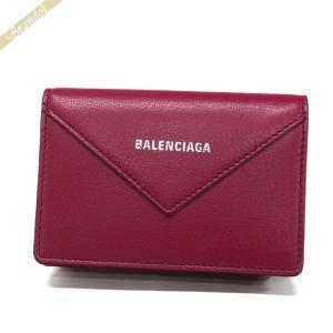 バレンシアガ Balenciaga レディース・メンズ 名刺入れ PAPER ペーパー レザー カードケース ボルドー 499201 DLQ0N 6135 [在庫品]|brandol