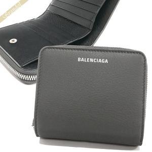 バレンシアガ Balenciaga レディース 二つ折り財布 レザー グレー 516366 DLQ0N 1110 [在庫品]|brandol