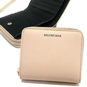バレンシアガ Balenciaga レディース 二つ折り財布 レザーベージュ系 516366 DLQ0N 2730 [在庫品]|brandol