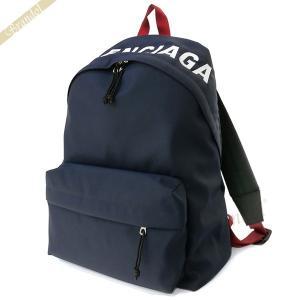 バレンシアガ Balenciaga メンズ・レディース リュック ロゴ WHEEL バックパック ネイビー×レッド 525162 HPG1X 4370 [在庫品]|brandol