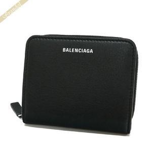 バレンシアガ Balenciaga レディース 二つ折り財布 エブリデイ ビルフォールド ロゴ ブラック 551933 DLQ0N 1000 【2019年春夏新作】 [在庫品]|brandol