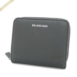 バレンシアガ Balenciaga レディース 二つ折り財布 エブリデイ ビルフォールド ロゴ ダークグレー 551933 DLQ0N 1110 【2019年春夏新作】 [在庫品]|brandol