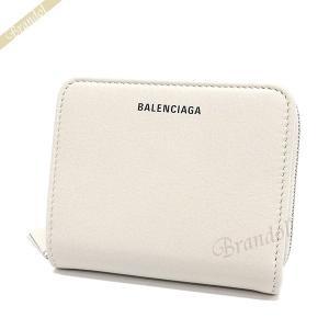 バレンシアガ Balenciaga レディース 二つ折り財布 エブリデイ ビルフォールド ロゴ ホワイト系 551933 DLQ0N 1209 【2019年春夏新作】 [在庫品]|brandol