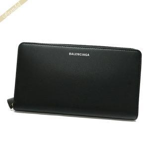 バレンシアガ Balenciaga レディース ラウンドファスナー長財布 ロゴ レザー ブラック 551935 DLQ0N 1000 【2019年春夏新作】 [在庫品] brandol