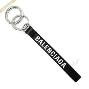 バレンシアガ Balenciaga メンズ・レディース キーリング ロゴ レザー キーホルダー ブラック 551984 DLQ4N 1000 [在庫品]|brandol