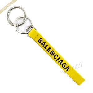 バレンシアガ Balenciaga メンズ・レディース キーリング ロゴ レザー キーホルダー イエロー 551984 DLQ4N 7160 [在庫品]|brandol