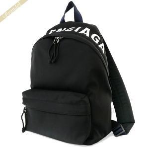 バレンシアガ Balenciaga レディース リュックサック ロゴ ナイロン ミニリュック ブラック 565798 HPG1X 1090 [在庫品]|brandol
