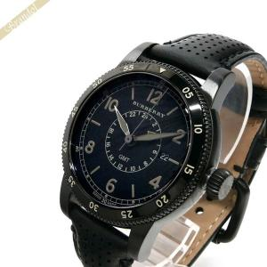 バーバリー BURBERRY メンズ 腕時計 The Utilitarian ユティリタリアン GMT 42mm ブラック BU7867 [在庫品]|brandol