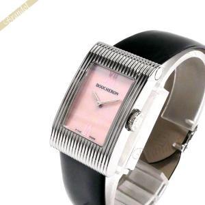 ブシュロン BOUCHERON レディース腕時計 Reflet リフレ ミディアム ピンク×ブラック WA009418 [在庫品] brandol