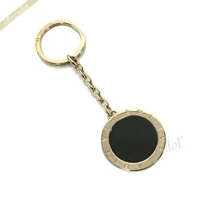 ブルガリ BVLGARI メンズ・レディース キーリング ブルガリブルガリ 円形ロゴ キーホルダー ゴールド×ブラック 283330 [在庫品] brandol