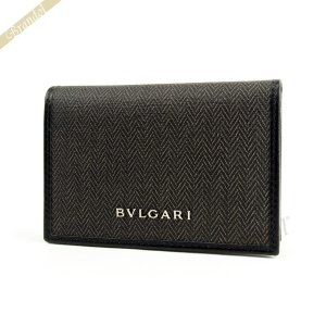 ブルガリ BVLGARI メンズ・レディース 名刺入れ WEEKEND ウィークエンド キャンバス ブラック系 32588 [在庫品]|brandol