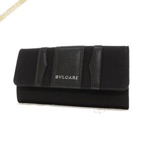 ブルガリ BVLGARI レディース 長財布 ビーゼロワン キャンバス ブラック 33780 BLK [在庫品] brandol