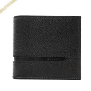 ブルガリ BVLGARI メンズ 二つ折り財布 レザー ブラック 36964