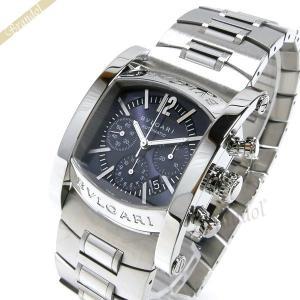 ブルガリ BVLGARI メンズ腕時計 アショーマ クロノグ...