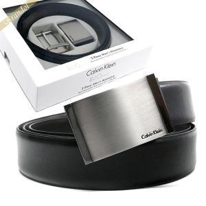 カルバンクライン Calvin Klein ベルト リバーシブル レザー ベルト 替えバックル付 フリーサイズ ブラック×ブラウン 2974379 BLACK/BROWN [在庫品]|brandol