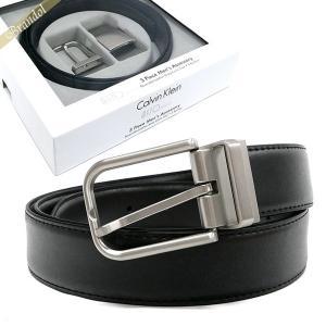 カルバンクライン Calvin Klein ベルト リバーシブル レザー ベルト 替えバックル付 フリーサイズ ブラック×ブラウン 74140 BLACK/BROWN [在庫品]|brandol