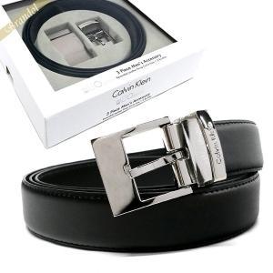 カルバンクライン Calvin Klein ベルト リバーシブル レザー ベルト 替えバックル付 フリーサイズ ブラック×ブラウン 74141 BLACK/BROWN [在庫品]|brandol