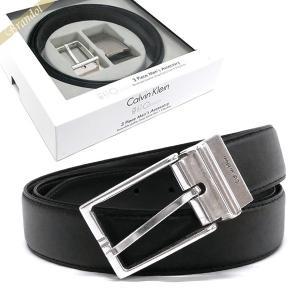 カルバンクライン Calvin Klein ベルト リバーシブル レザー ベルト 替えバックル付 フリーサイズ ブラック×ブラウン 74142 BLACK/BROWN [在庫品]|brandol