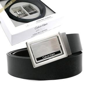 カルバンクライン Calvin Klein ベルト リバーシブル レザー ベルト 替えバックル付 フリーサイズ ブラック×ブラウン 74203 BLACK/BROWN [在庫品]|brandol
