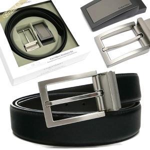 カルバンクライン Calvin Klein メンズ ベルト リバーシブル レザーベルト 替えバックル付 フリーサイズ ブラック×ブラウン 74306 BLACK/BROWN [在庫品]|brandol
