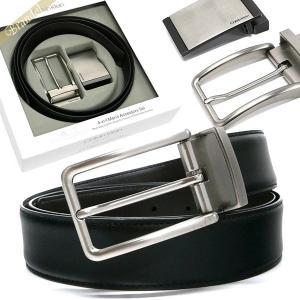 カルバンクライン Calvin Klein メンズ ベルト リバーシブル レザーベルト 替えバックル付 フリーサイズ ブラック×ブラウン 74312 BLACK/BROWN [在庫品]|brandol