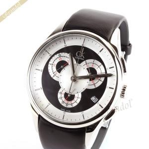 カルバンクライン Calvin Klein メンズ腕時計 CK BASIC ベーシック クロノグラフ 43mm ブラック K2A271.02|brandol