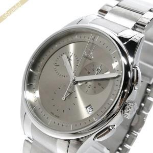 カルバンクライン Calvin Klein メンズ 腕時計 CK BASIC ベーシック クロノグラフ 43mm グレー×シルバー K2A271.26|brandol