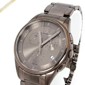 カルバンクライン Calvin Klein メンズ腕時計 CKベーシック クロノグラフ 43mm ガンメタル K2A27920 [在庫品]|brandol